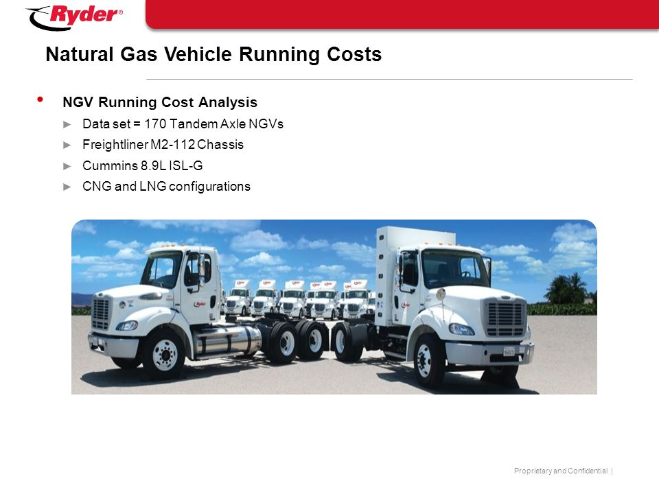 Natural Gas Vehicle Running Costs