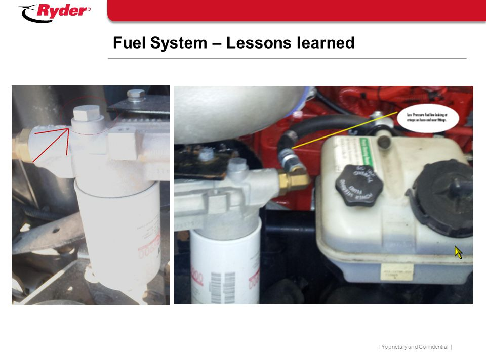 Fuel System – Lessons learned
