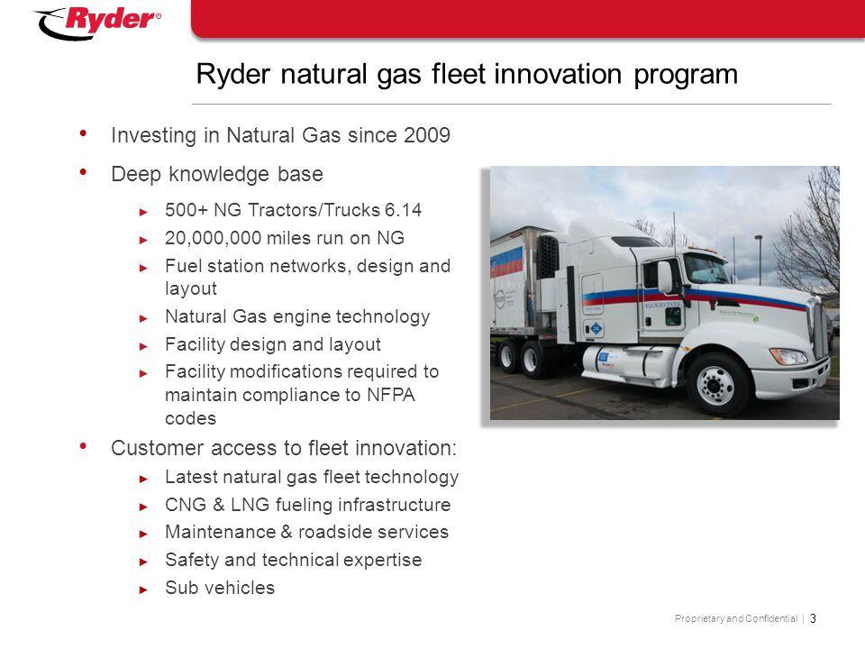 Ryder natural gas fleet innovation program