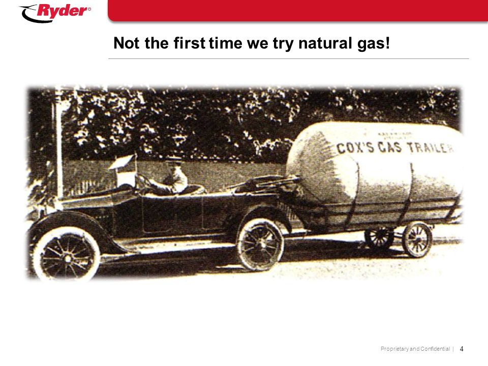 Not the first time we try natural gas!
