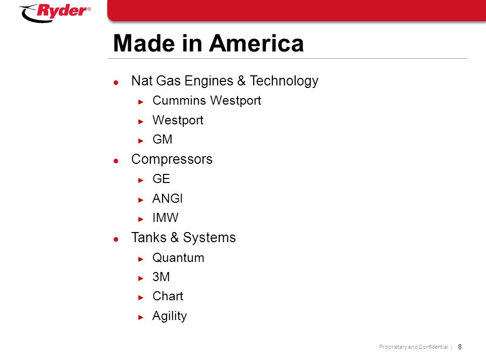 Made in America Nat Gas Engines & Technology Compressors