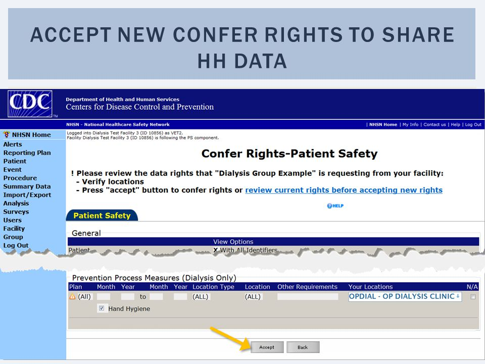 Accept new confer rights to share hh data