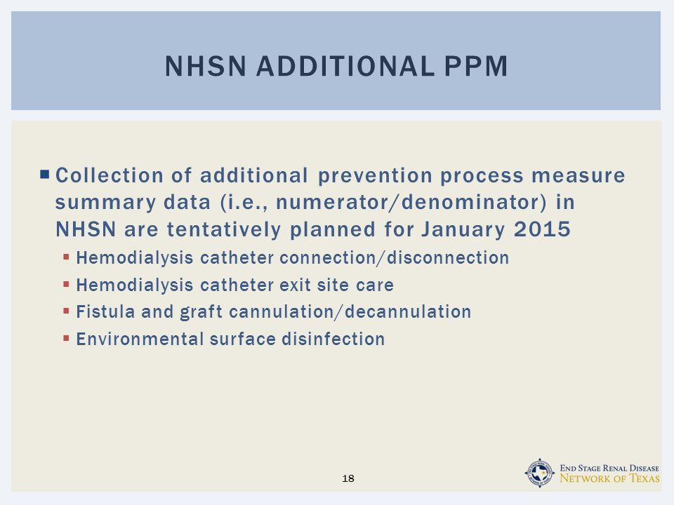 NHsn additional PPM