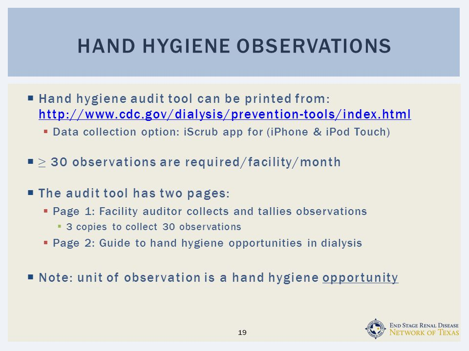 Hand Hygiene observations