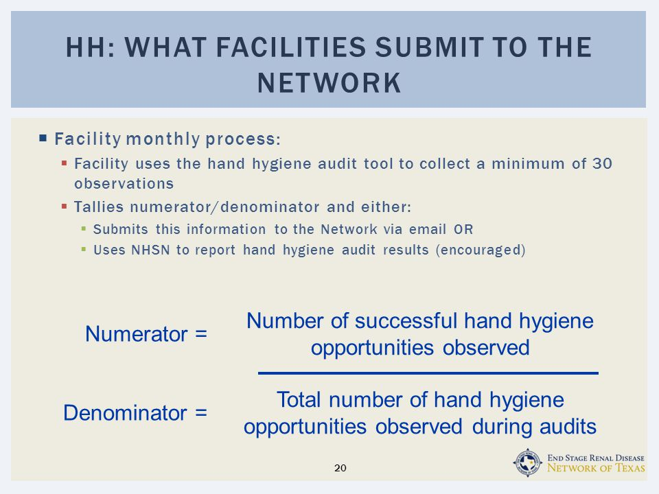 Hh: what facilities submit to the network