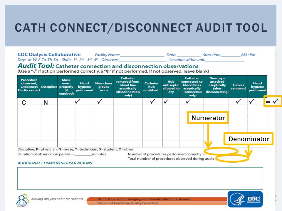 Cath connect/disconnect audit tool
