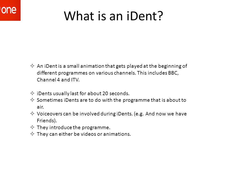What is an iDent