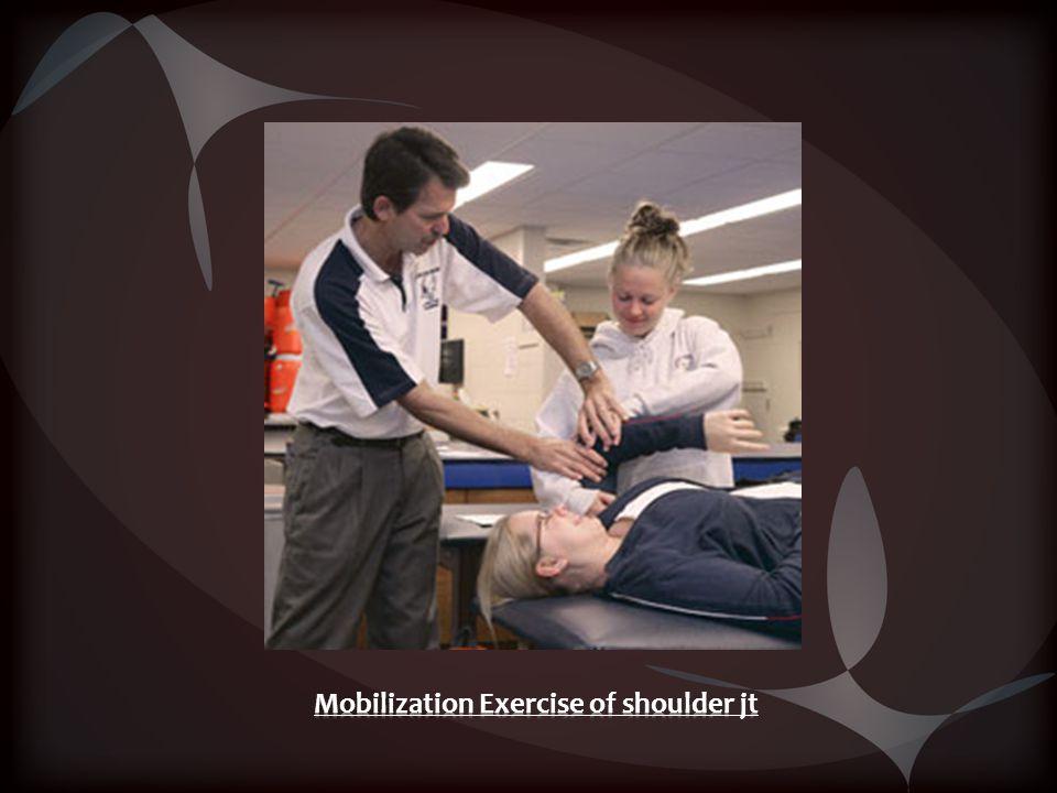 Mobilization Exercise of shoulder jt