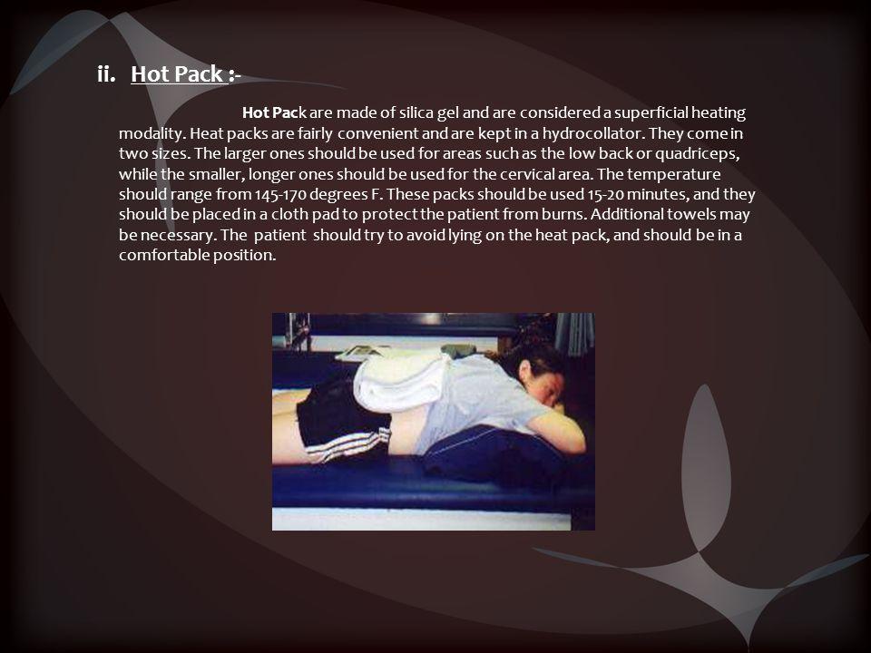 ii. Hot Pack :-