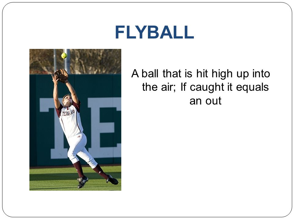A ball that is hit high up into the air; If caught it equals an out
