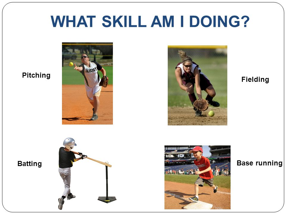 WHAT SKILL AM I DOING Pitching Fielding Batting Base running