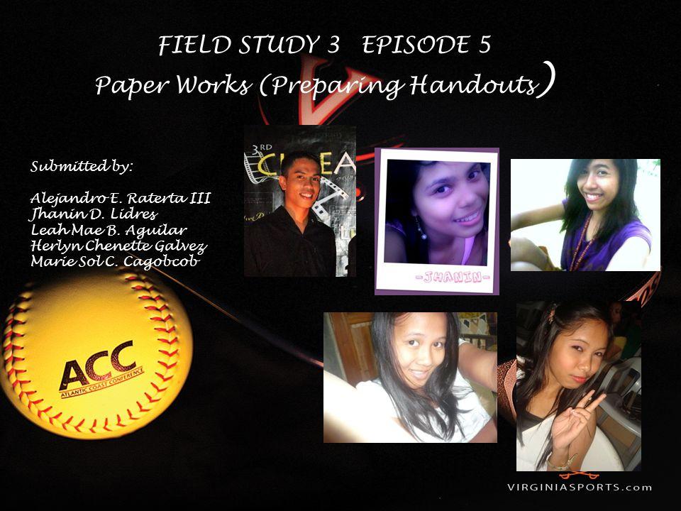 Paper Works (Preparing Handouts)