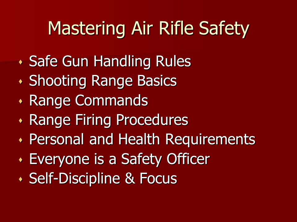 Mastering Air Rifle Safety