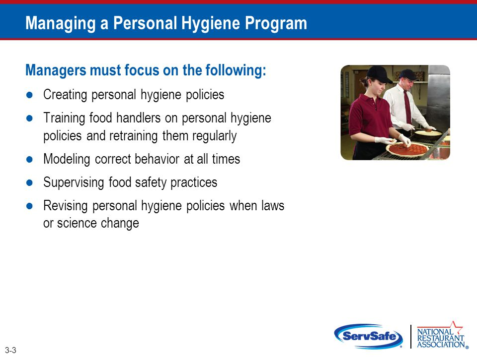 Managing a Personal Hygiene Program