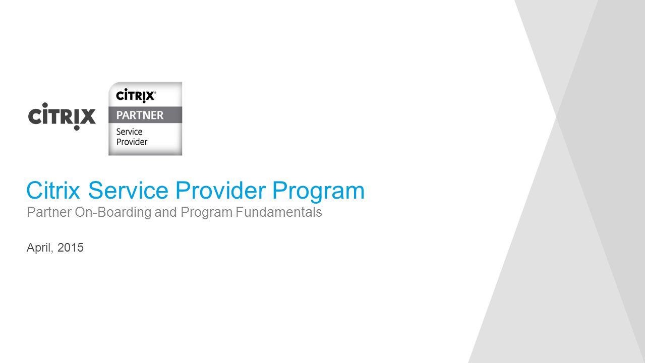 Citrix Service Provider Program