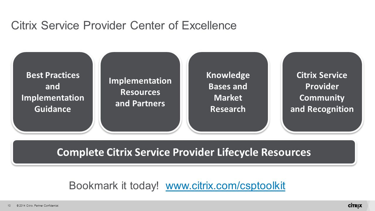 Citrix Service Provider Center of Excellence