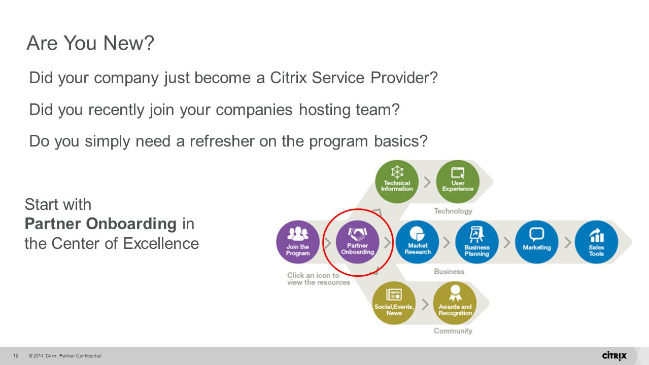 Are You New Did your company just become a Citrix Service Provider
