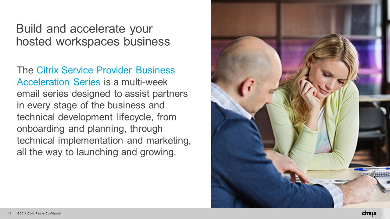 Build and accelerate your hosted workspaces business