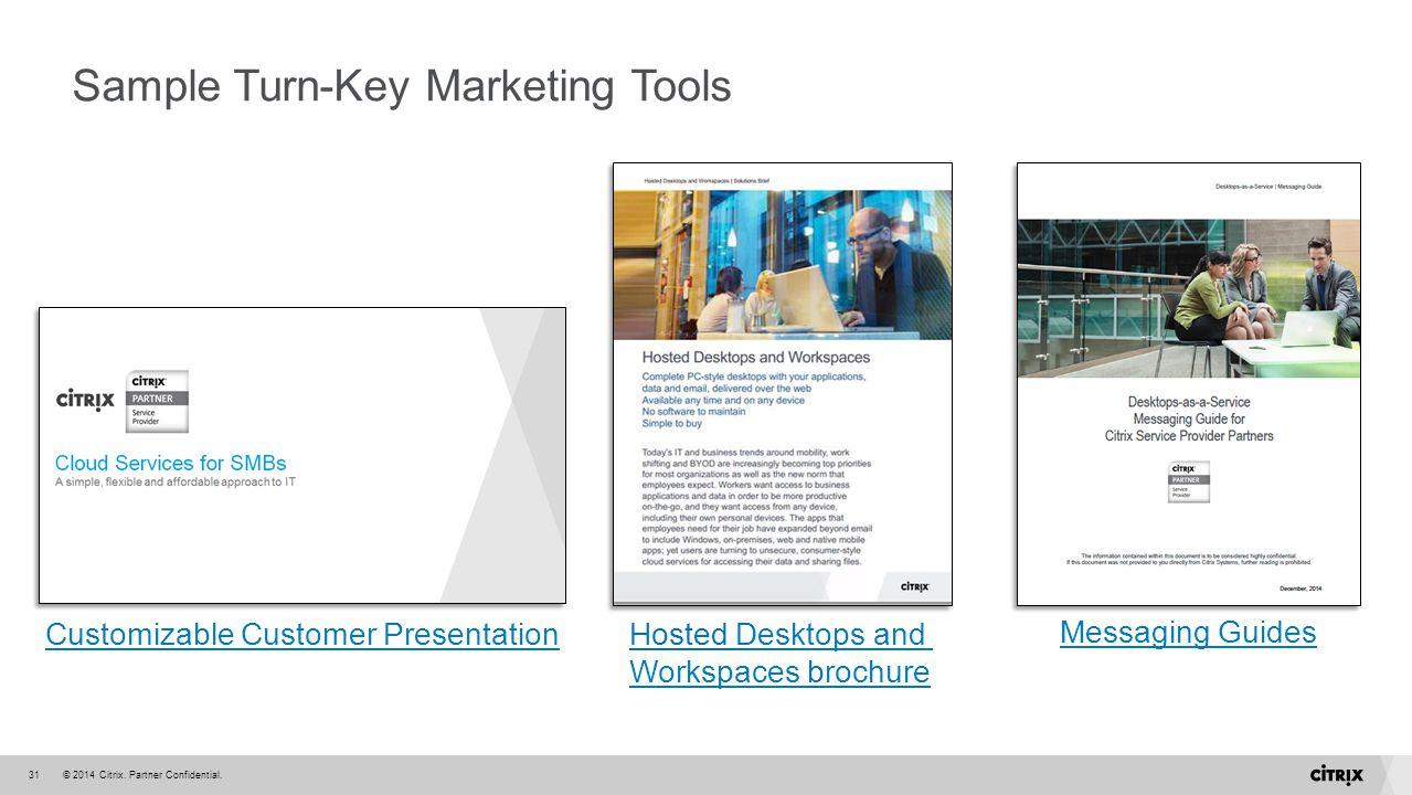 Sample Turn-Key Marketing Tools