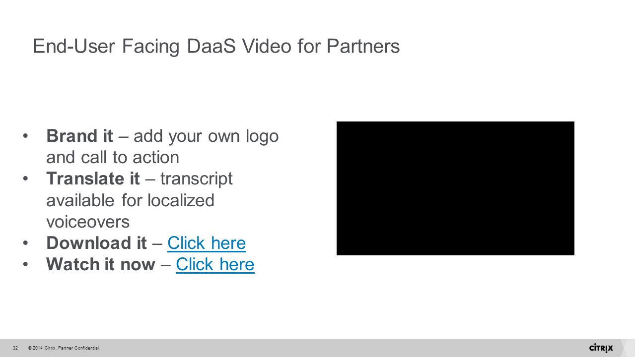 End-User Facing DaaS Video for Partners