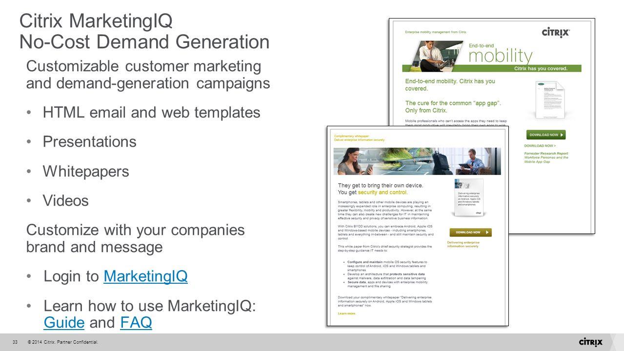 Citrix MarketingIQ No-Cost Demand Generation