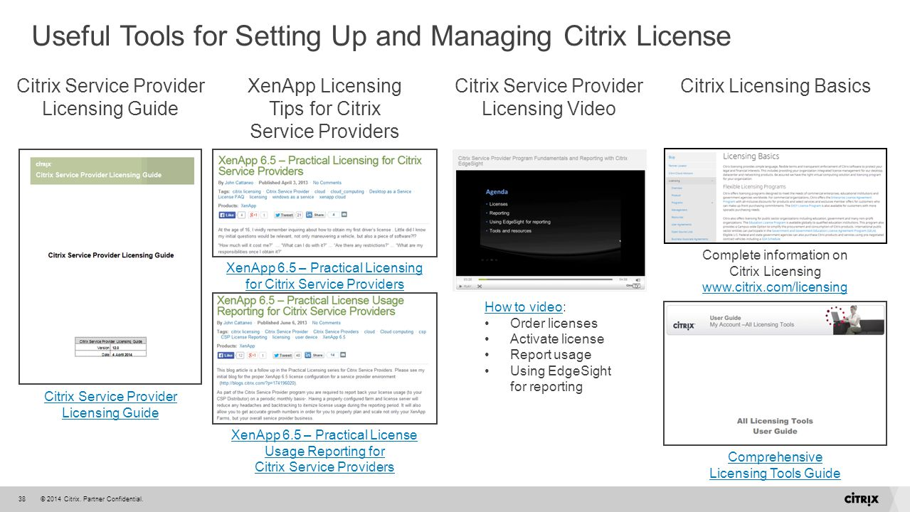 Useful Tools for Setting Up and Managing Citrix License