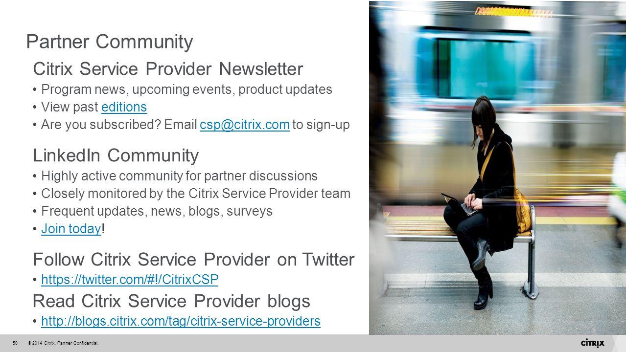 Partner Community Citrix Service Provider Newsletter