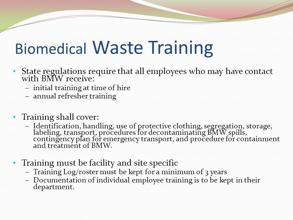 Biomedical Waste Training
