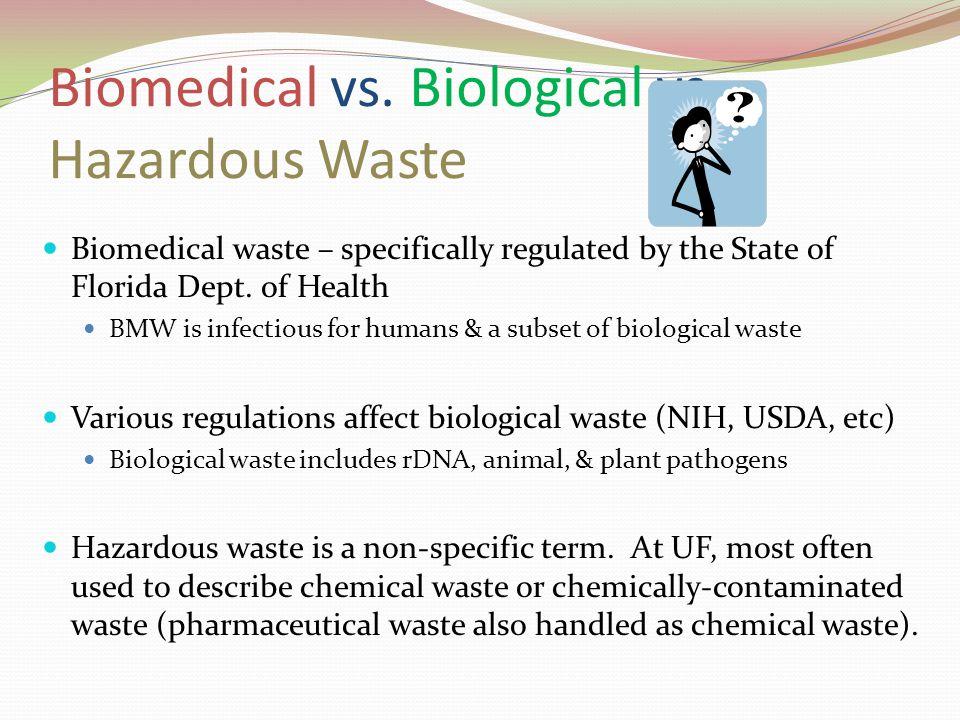 Biomedical vs. Biological vs. Hazardous Waste