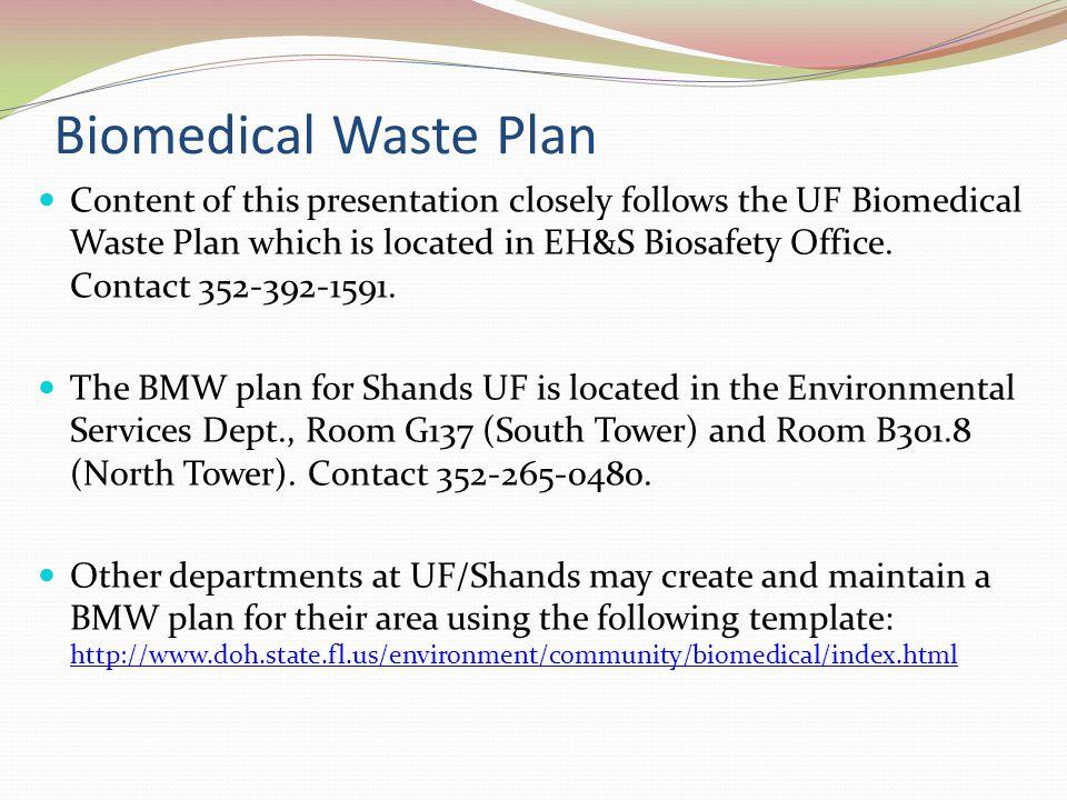 Biomedical Waste Plan