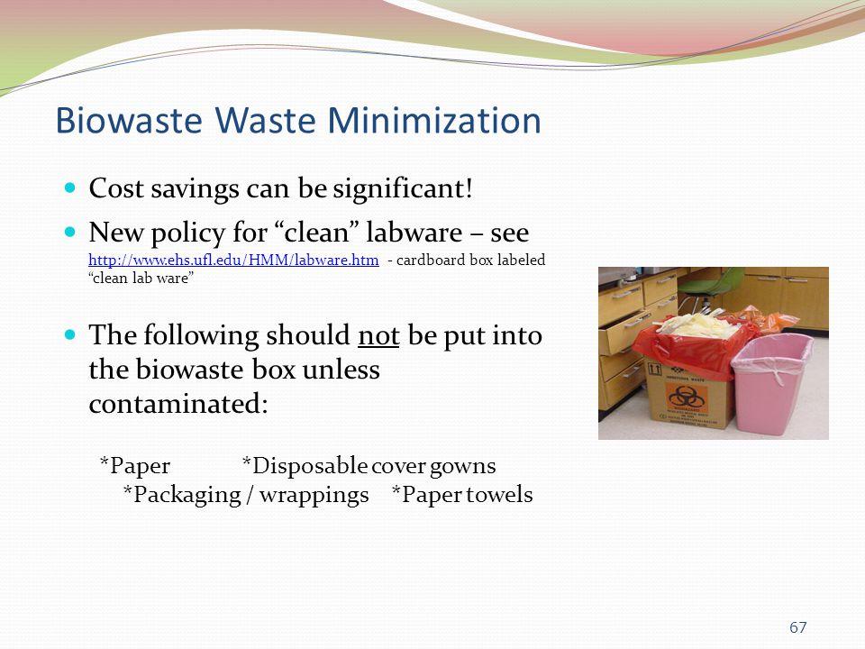 Biowaste Waste Minimization