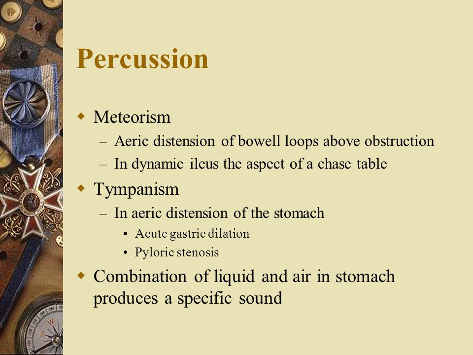 Percussion Meteorism Tympanism