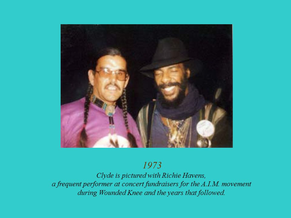 1973 Clyde is pictured with Richie Havens,