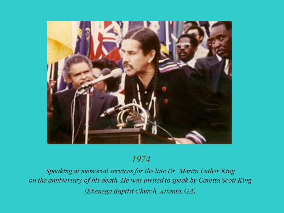 1974 Speaking at memorial services for the late Dr. Martin Luther King