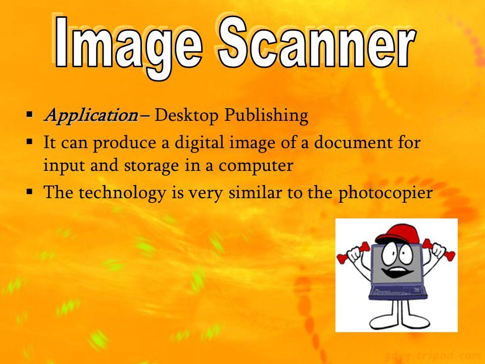 Image Scanner Application – Desktop Publishing