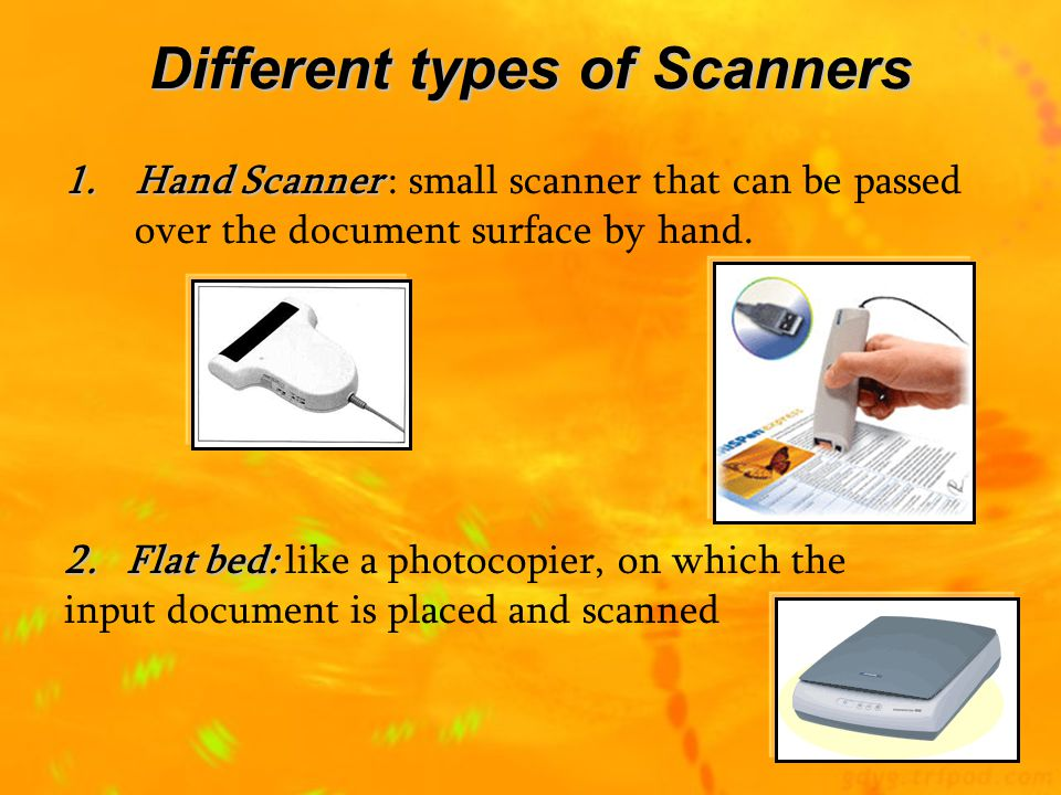 Different types of Scanners