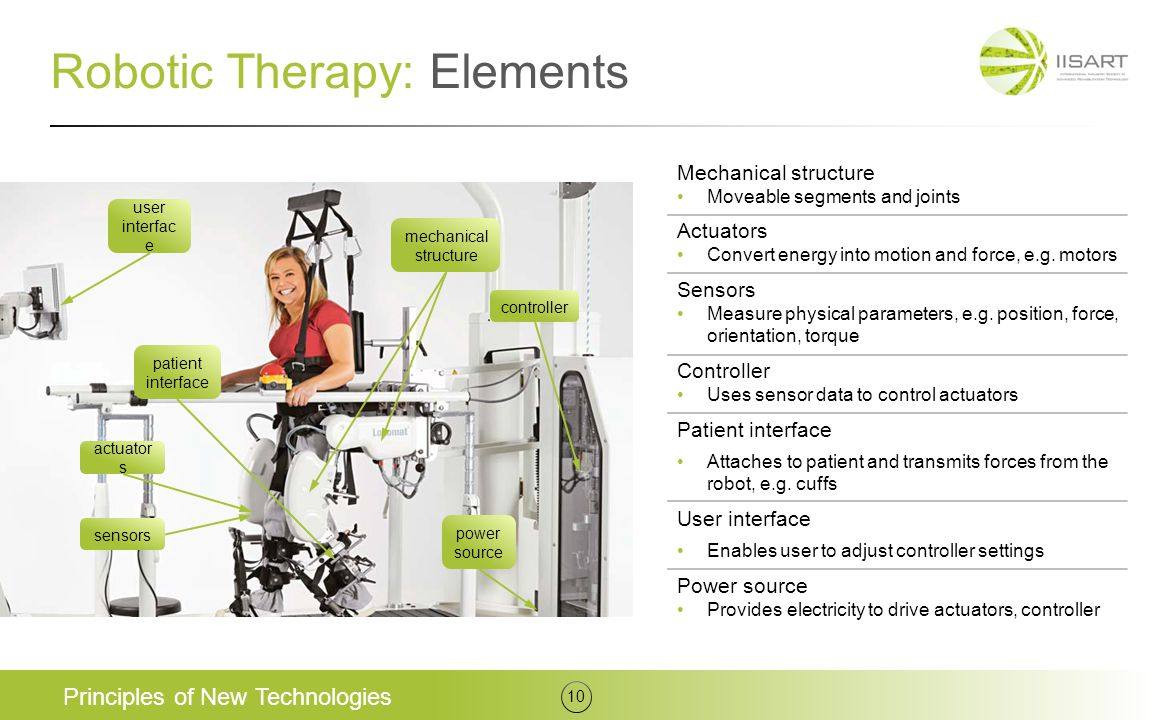 Robotic Therapy: Elements