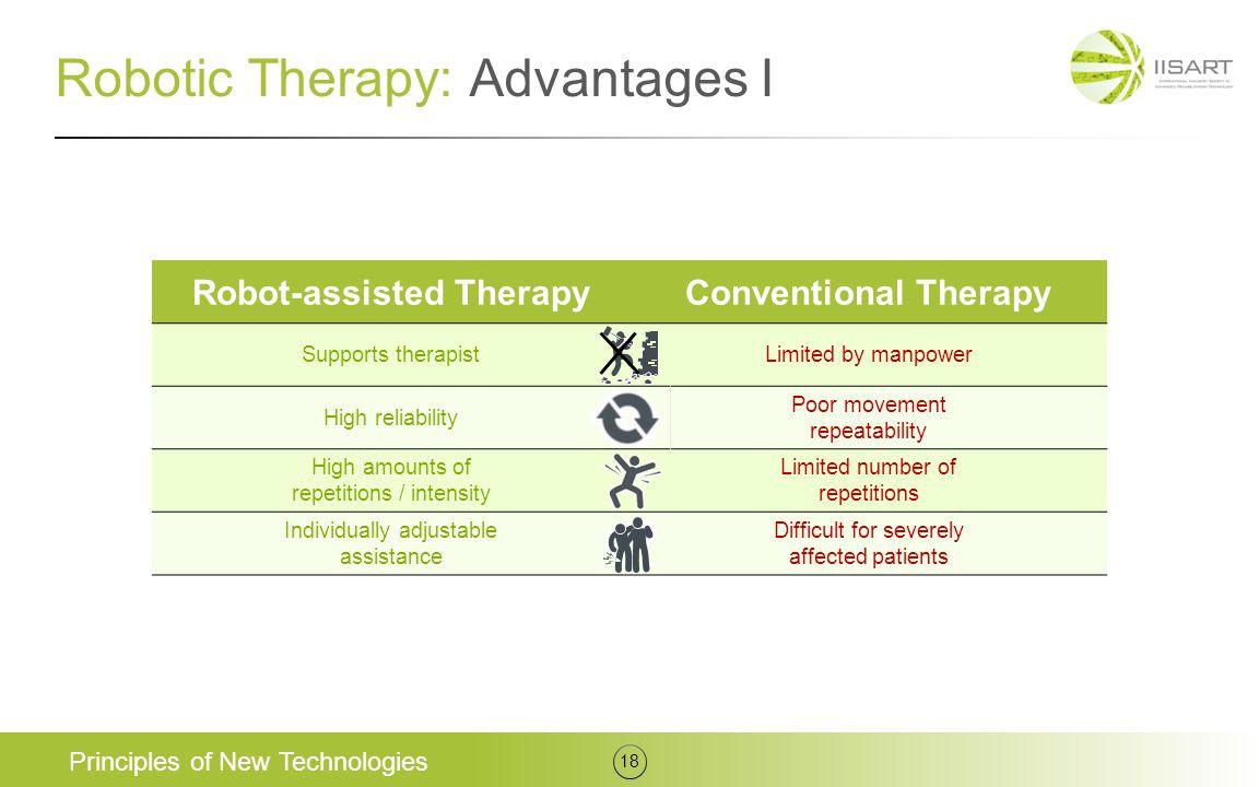 Robotic Therapy: Advantages I