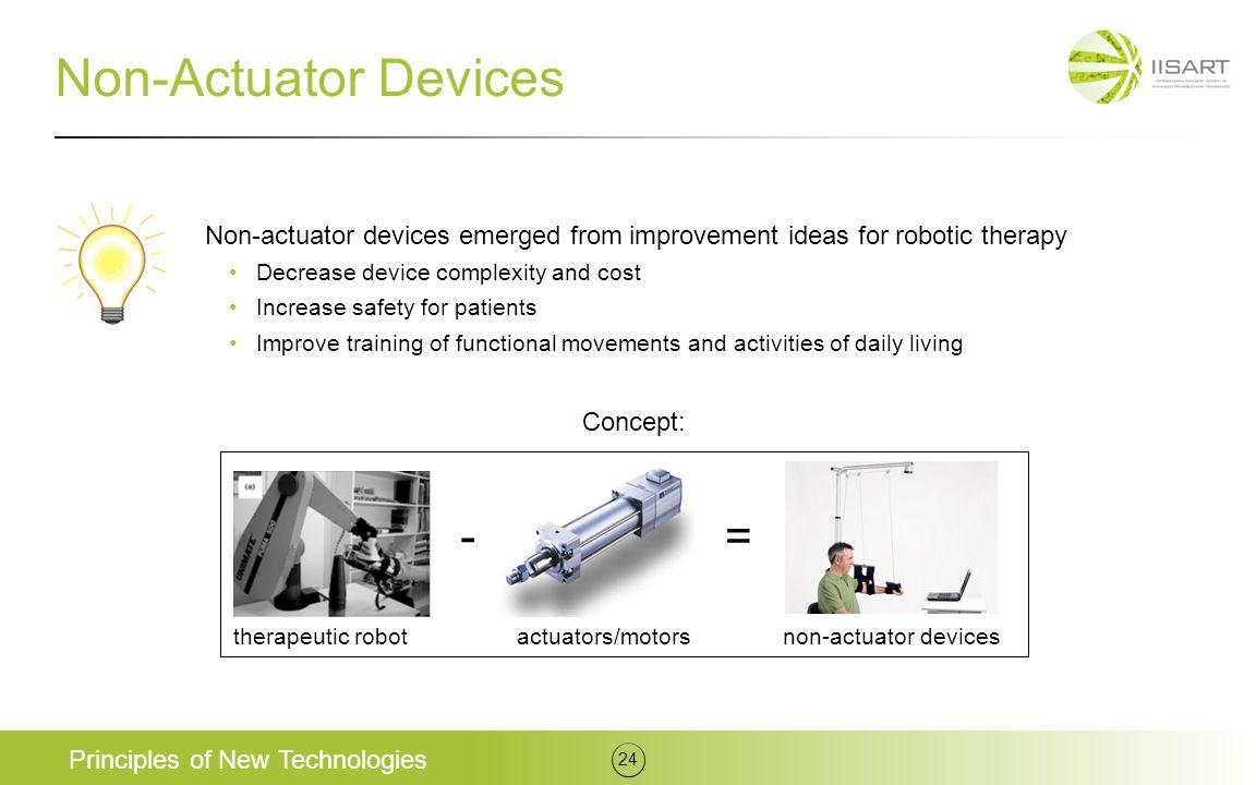 Non-Actuator Devices - =