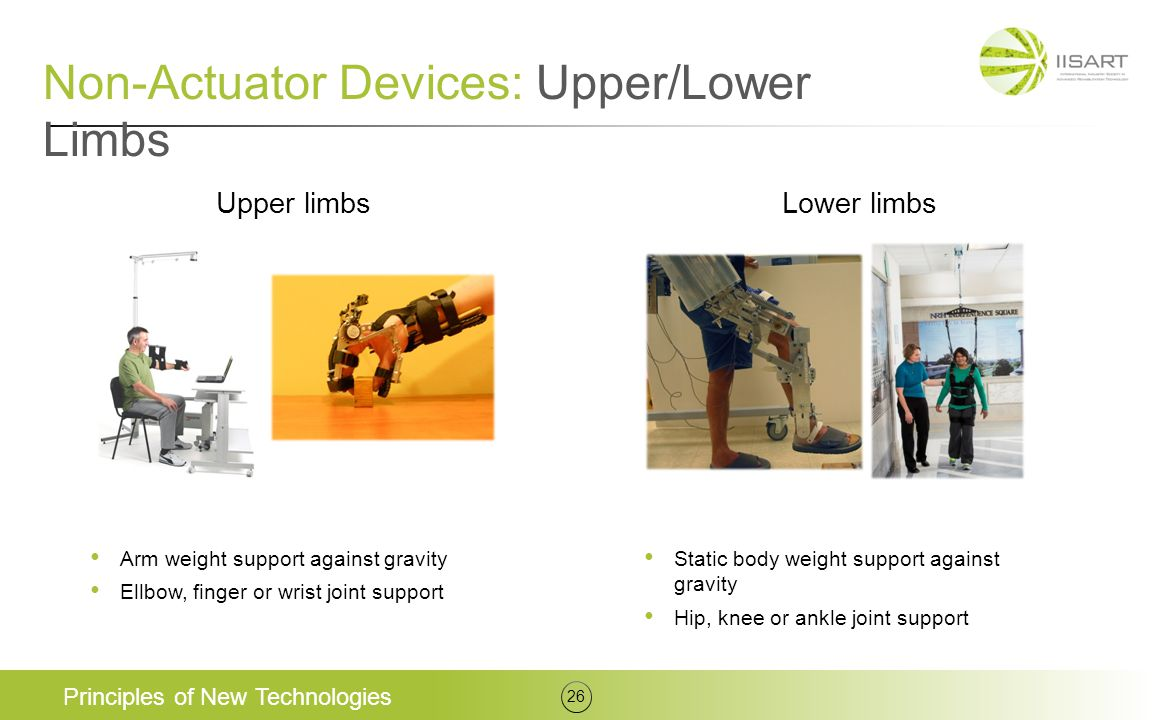 Non-Actuator Devices: Upper/Lower Limbs