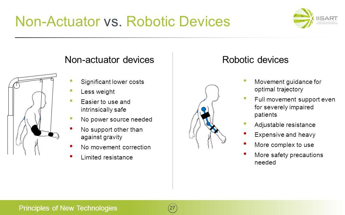Non-Actuator vs. Robotic Devices