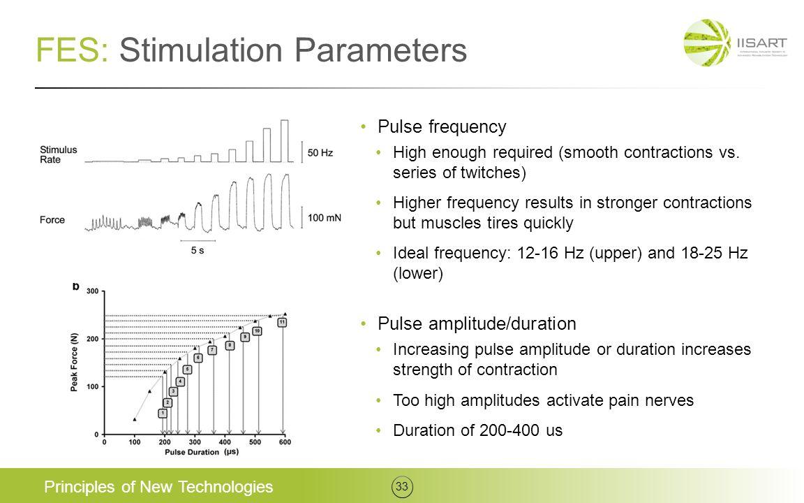 FES: Stimulation Parameters
