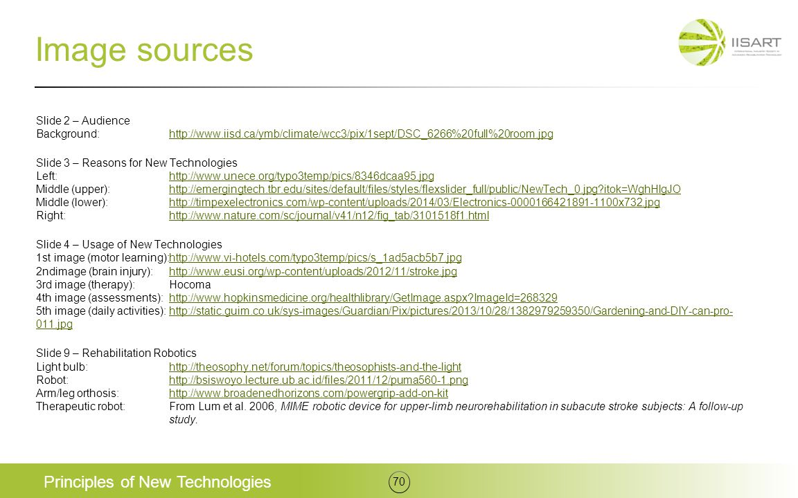 Image sources Principles of New Technologies