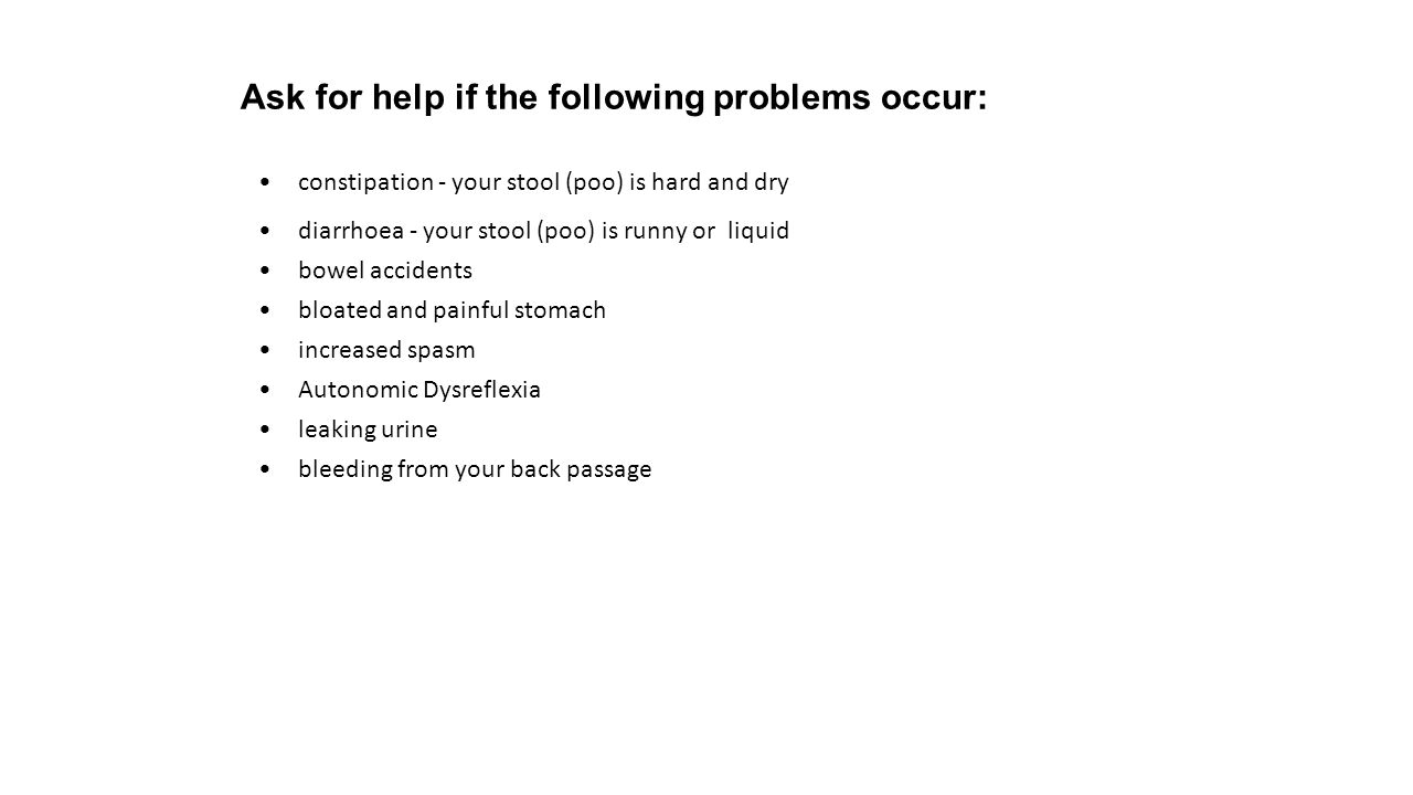 Ask for help if the following problems occur:
