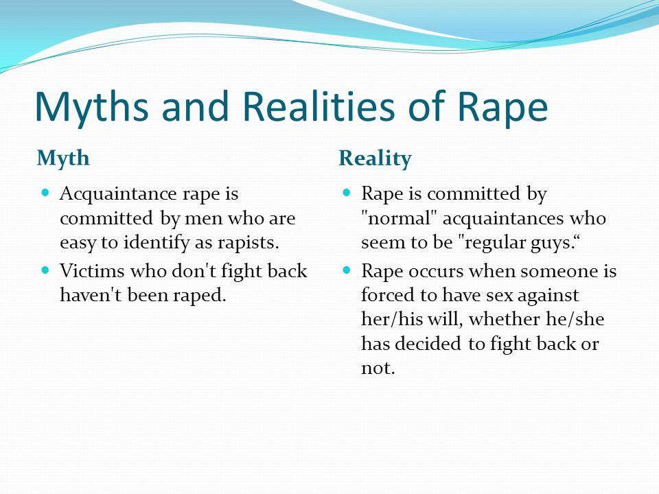 Myths and Realities of Rape