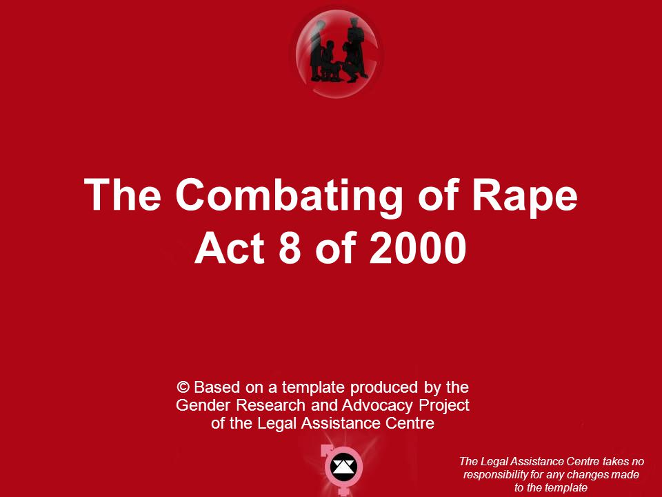 The Combating of Rape Act 8 of 2000