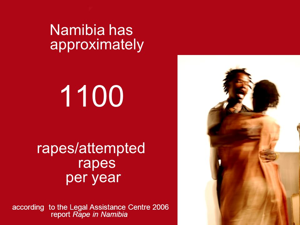 1100 Namibia has approximately rapes/attempted rapes per year