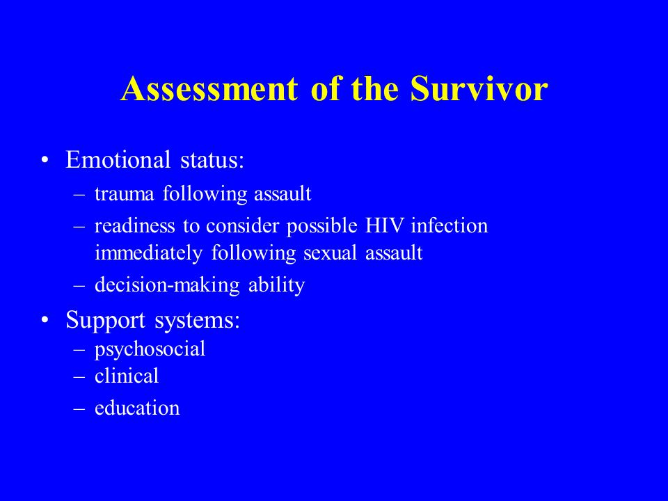 Assessment of the Survivor