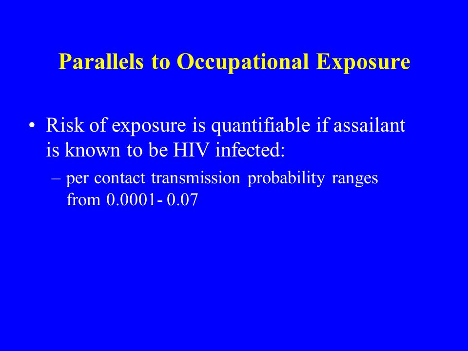 Parallels to Occupational Exposure