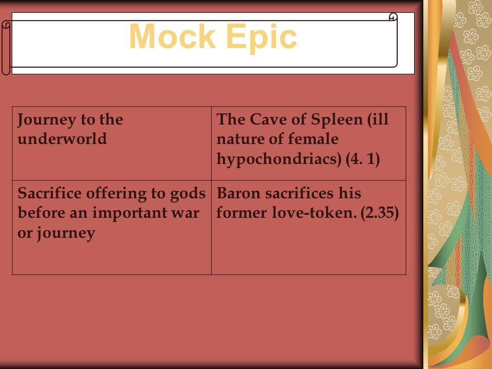 Mock Epic Journey to the underworld